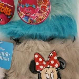 Other - Mini Mouse Purse Trolls Purse Bag Fake Fur